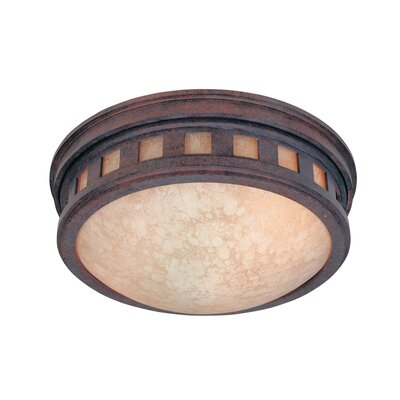 Sedona Cast Flush Mount Finish: Mediterranean Patina, Energy Star: No