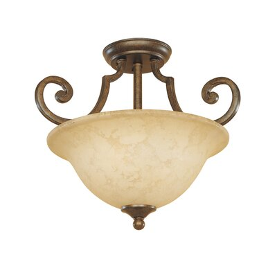 Mendocino 2-Light Semi Flush Mount