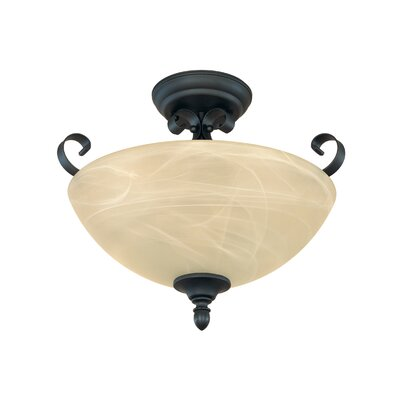 Del Amo 2-Light Semi Flush Mount
