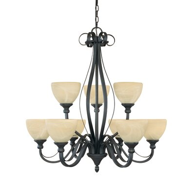 Del Amo 9-Light Shaded Chandelier