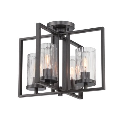 Kuhle 4-Light Semi Flush Mount