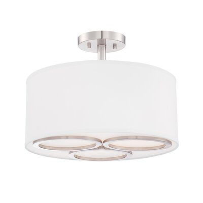 Omega 3-Light Semi Flush Mount