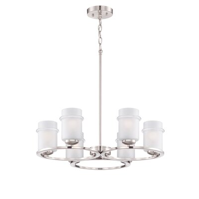 Omega 6-Light Shaded Chandelier