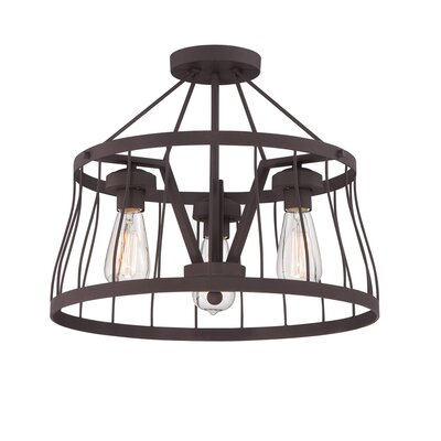 Brooklyn 3-Light Semi Flush Mount