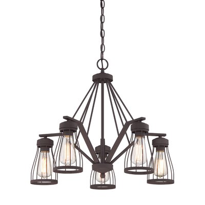 Greenside 5-Light Shaded Chandelier