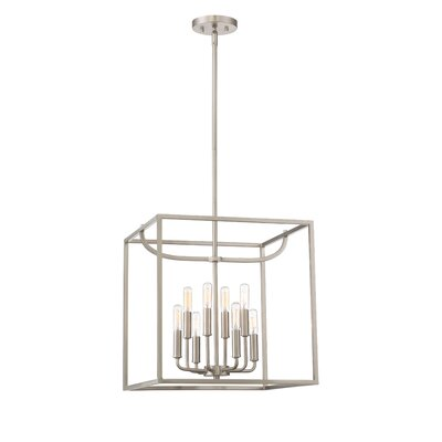 Uptown 8-Light Foyer Pendant Finish: Satin Platinum