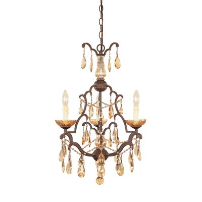 Bollo 3-Light Crystal Chandelier