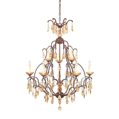 Bollo 9-Light Crystal Chandelier