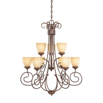 Belaire 9-Light Shaded Chandelier