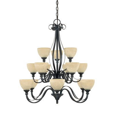Del Amo 15-Light Shaded Chandelier