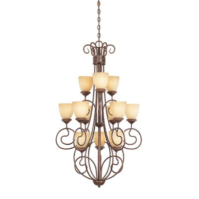 Belaire 12-Light Shaded Chandelier
