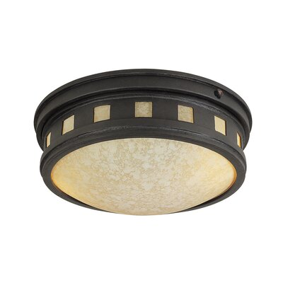 Sedona Cast Flush Mount Finish: Oil Rubbed Bronze, Energy Star: Yes