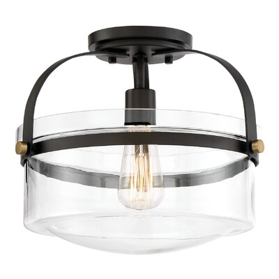 Portland 1-Light Semi Flush Mount