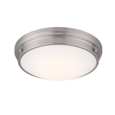 Ashtown LED Flush Mount Fixture Finish: Satin Platinum