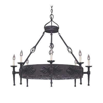 Alhambra 8-Light Candle-Style Chandelier Size: 36.25 x 40.75