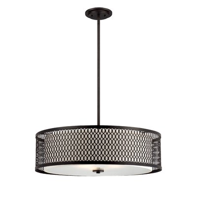 Continental 3-Light Drum Pendant Size: 26 W
