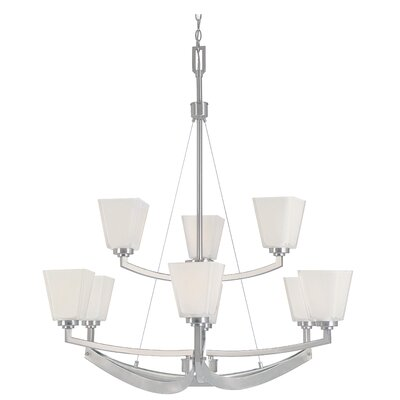 Avanti 9-Light Shaded Chandelier