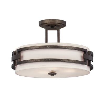 Del Ray 3-Light Semi-Flush Mount