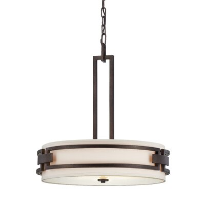 Del Ray 3-Light Drum Pendant