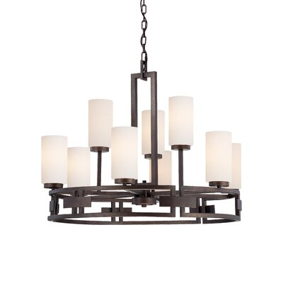 Del Ray 9-Light Shaded Chandelier