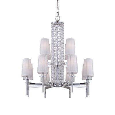 Candence 12-Light Shaded Chandelier