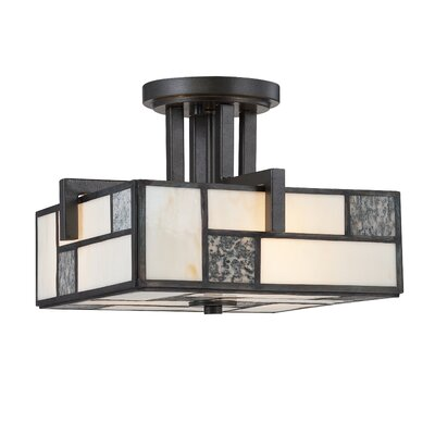 Bradley 3-Light Semi-Flush Mount
