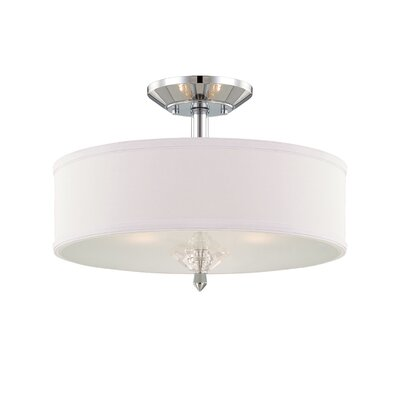 Palatial 3-Light Semi-Flush Mount