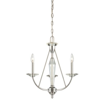 Palatial 3-Light Candle-Style Chandelier