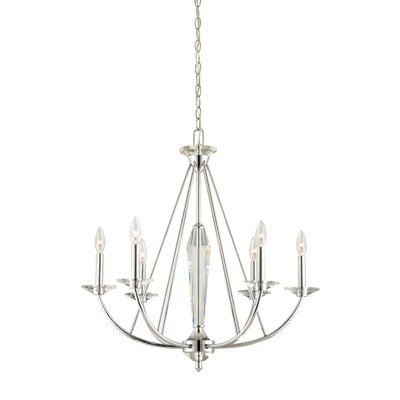 Palatial 6-Light Candle-Style Chandelier