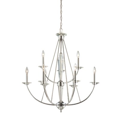 Palatial 9-Light Candle-Style Chandelier