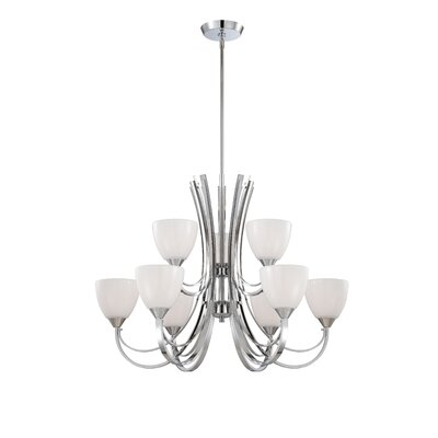 Cortona 9-Light Shaded Chandelier