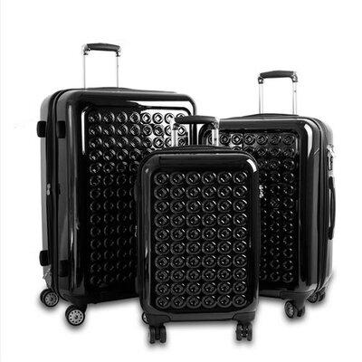 J World Jonit3 Piece Luggage Set - Color: Black