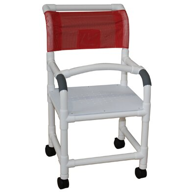 MJM International Standard Deluxe Shower Chair with Flat Stock Seat - Color: Mauve