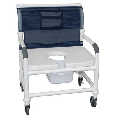 MJM International Bariatric Commode Shower Chair - Style: Commode Chair, Color: Forest Green at Sears.com