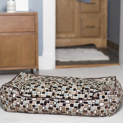 Flocked Lounge Bolster Dog Bed Size: Small (24 L x 18 W)