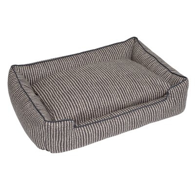 Premium Cotton Blend Lounge Bolster Bed Size: Medium (27 L x 32 W), Color: Arrow Charcoal