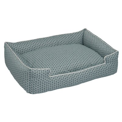 Premium Cotton Blend Lounge Bolster Bed Size: Medium (27 L x 32 W), Color: Eve Blue