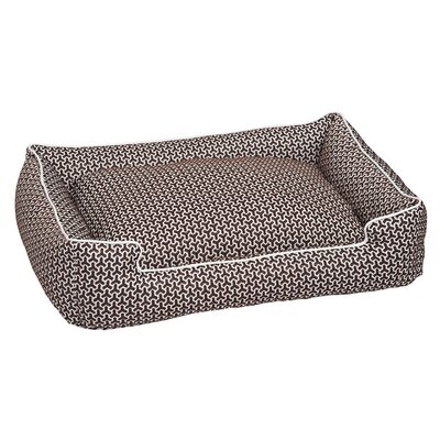 Premium Cotton Blend Lounge Bolster Bed Size: Medium (27 L x 32 W), Color: Eve Chocolate