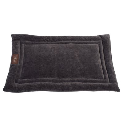 Ripple Velour Cozy Mat Size: Small - 24 L x 18 W, Color: Storm