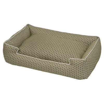 Premium Cotton Blend Lounge Bolster Bed Size: Medium (27 L x 32 W), Color: Eve Green