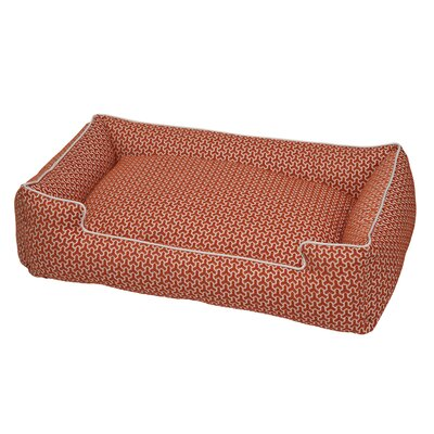 Premium Cotton Blend Lounge Bolster Bed Size: Medium (27 L x 32 W), Color: Eve Orange