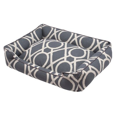Premium Cotton Blend Lounge Bolster Bed Size: Medium (27 L x 32 W), Color: Solar