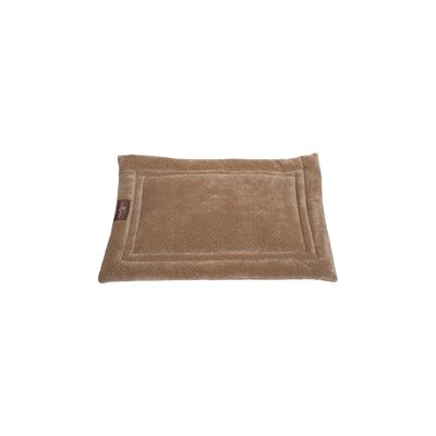 Ripple Velour Cozy Mat Size: Small - 24 L x 18 W, Color: Taupe