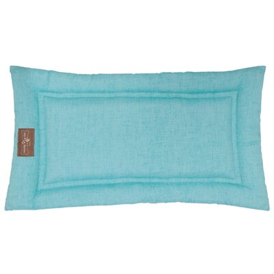 Indoor/Outdoor Cozy Mat Size: Small (24 L x 18 W), Color: Aqua