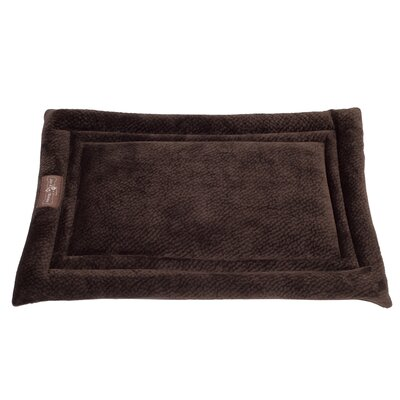 Ripple Velour Cozy Mat Size: Medium - 30 L x 19 W, Color: Chestnut