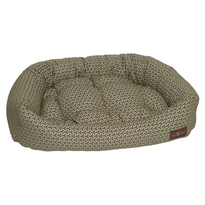 Premium Cotton Bolster Bed Size: Medium - 27 L x 35 W, Color: Eve Green