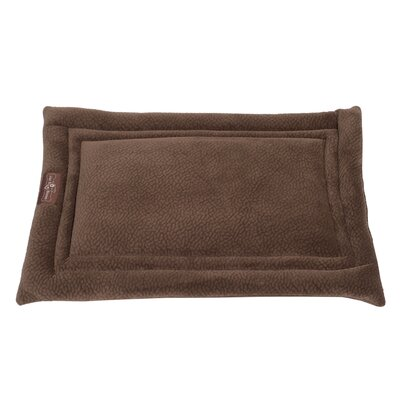 Ripple Velour Cozy Mat Size: Small - 24 L x 18 W, Color: Java