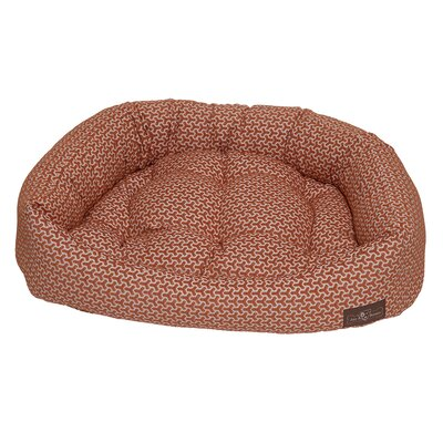 Premium Cotton Bolster Bed Color: Eve Orange, Size: Medium - 27 L x 35 W