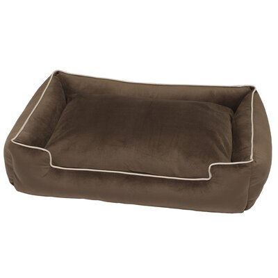 Fur Velour Lounge Bed Color: Driftwood, Size: Small