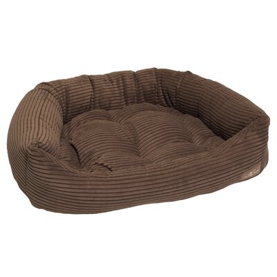 Corduroy Napper Bed Bolster Size: Small - 21 L x 24 W, Color: Chocolate